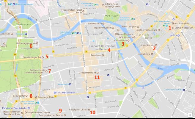berlin-mitte-itinerary